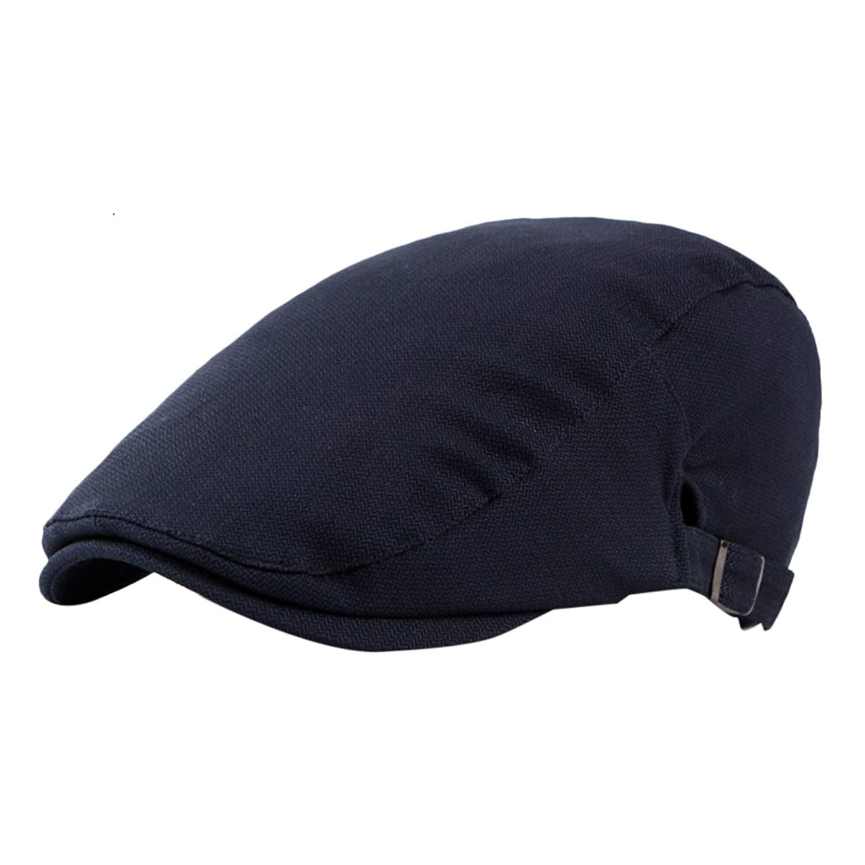 35d482fc41b3a Get Quotations · Zhuhaitf Mens Cotton Flat Cap Ivy Caps Hunting Hats Driver  Hat Headwear 4202