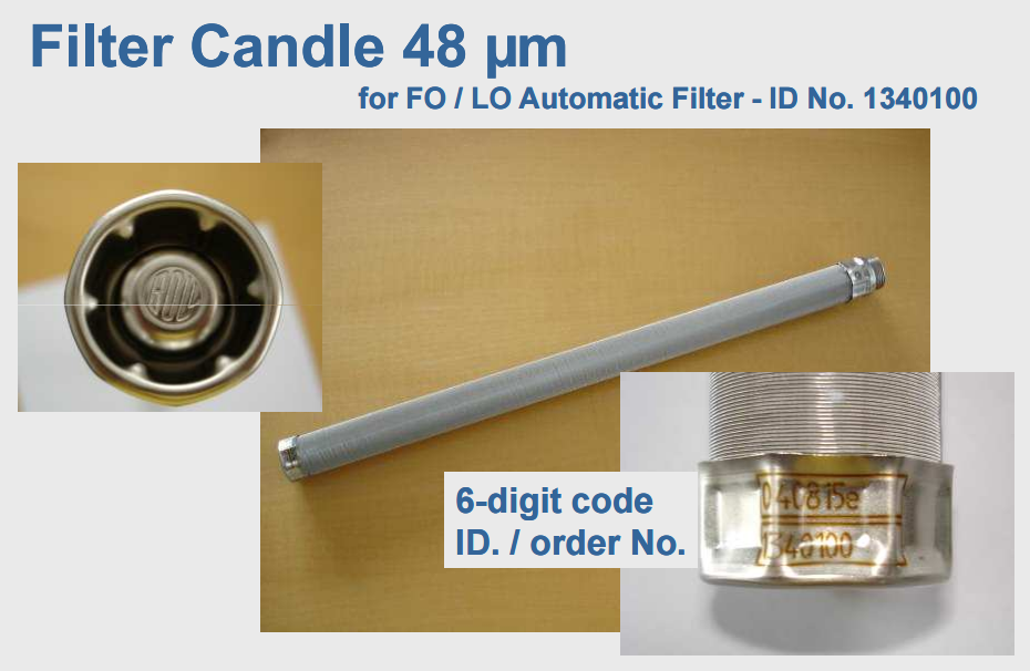 Candle lubrication oil filter wholesale