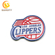 Custom Design Patch For NBA Baskeball Los Angeles Clippers Embroidery Patch