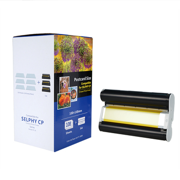 Cheap compatible kp108in ribbon ink cartridge for Canon kids photo selphy CP1000 photo paper