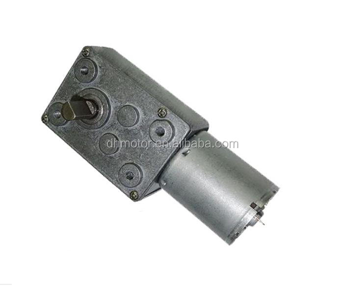 12v dc 70rpm right angle worm gear motor for wiper motors
