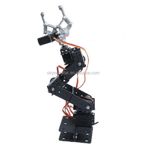 6 DOF Servo Motor Robot Arm Aluminium Rotating Mechanical Robotic Arm Clamp Claw Mount Robot Aam 6 axis Kit Set