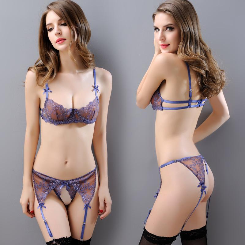 Be My Queen Fashion Female Bras Underwear Set Women Sexy B Cup Ultrathin Bra Panties