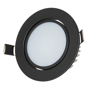 3w Black light led downlight dimmable 2.5 inch watt 12v ip44 gu10