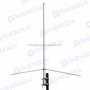 HF/VHF/UHF 3 bands adjustable base station antenna 1.5m length fiberglass antenna