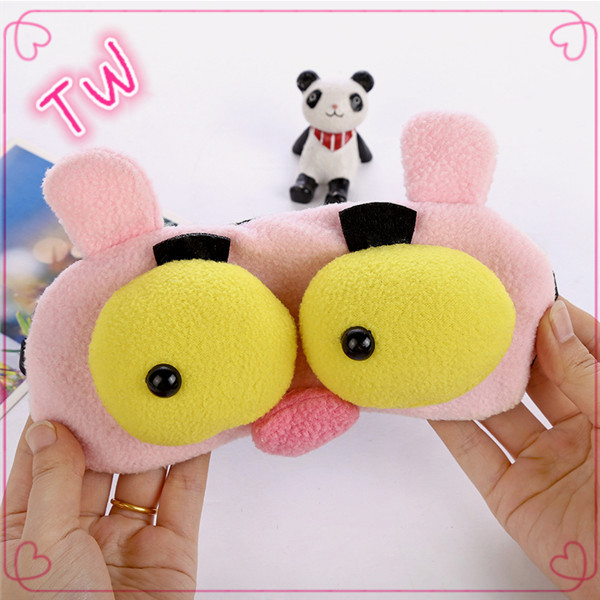 Wholesale China Manufactured custom 3d animal shaped Cashmere eye mask for children sleep