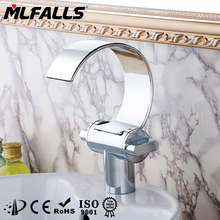 Modern brass polished single basin waterfall water tap dropship available
