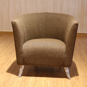Modern single leisure backrest chair for lounge used hotel furniture in stock