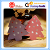 Christmas Tree shape colourful paper hang tag for Christmas decoration