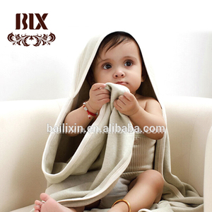 High quality super soft 100% cotton kids blanket/ baby hooded towel