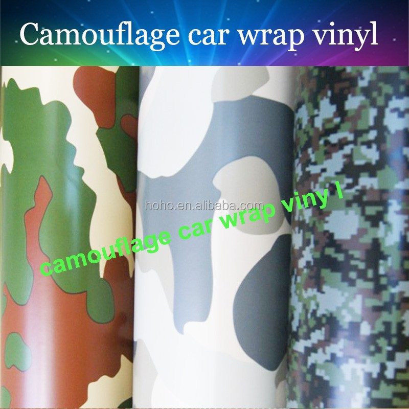 Bubble free white camouflage car vinyl film vinyl car wrap camouflage for car body decoration