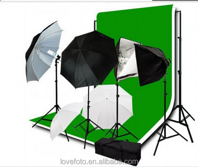 Photo studio Lighting Studio Photography SoftBox Light Kit+10'x20'ft (3X6m)Muslin backdrops Photography studio equipment