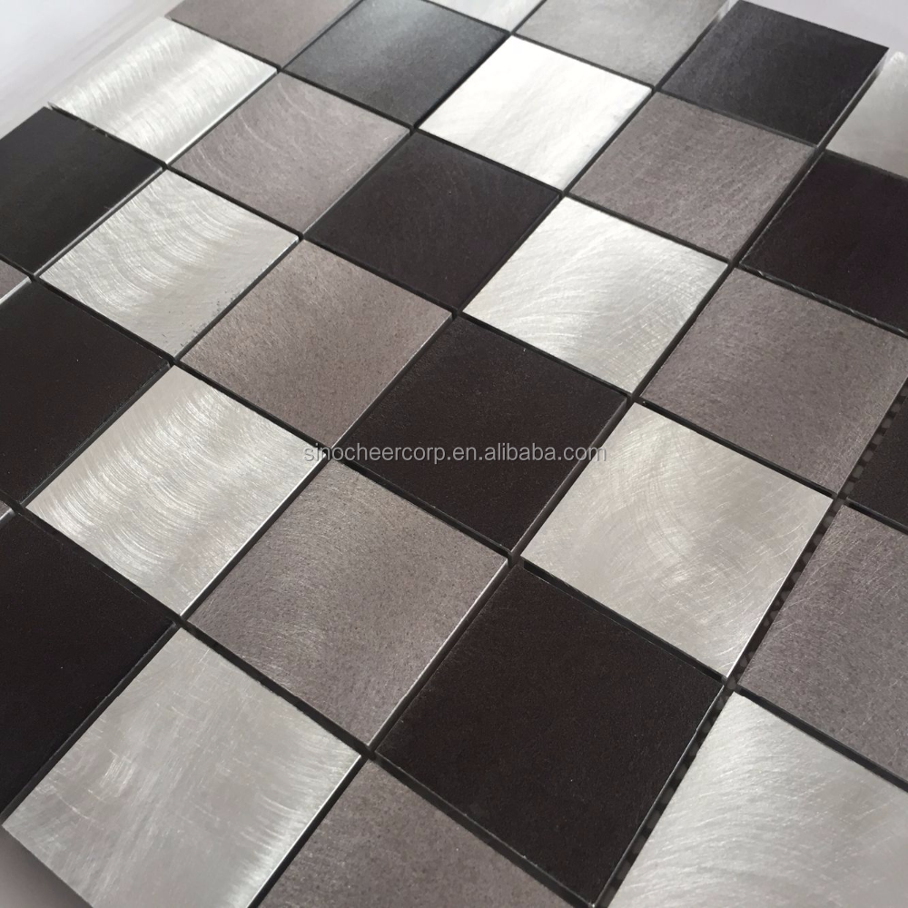 Wholesale Gold rose stainless steel metal mosaic tile