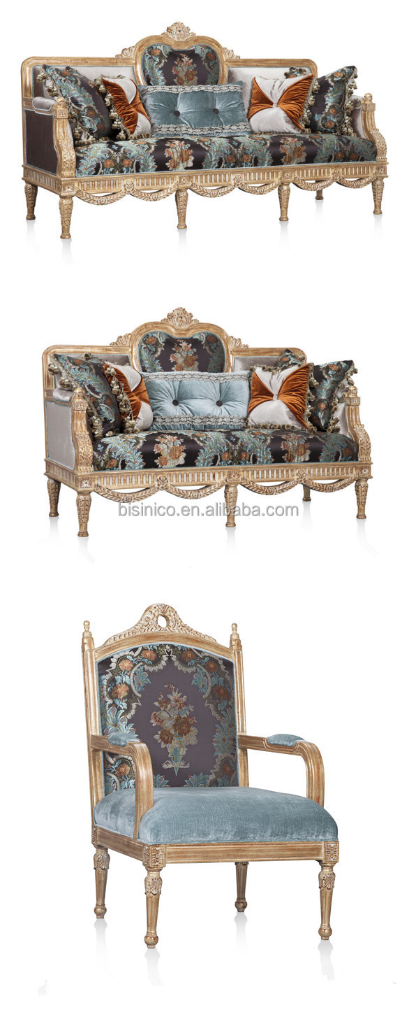 Retro British Style Palace Furniture,Noble Hand Carved Wooden Sofa ...