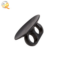 2018 New Design Silicone Product Black Rubber Suction Cups For Heavy Duty