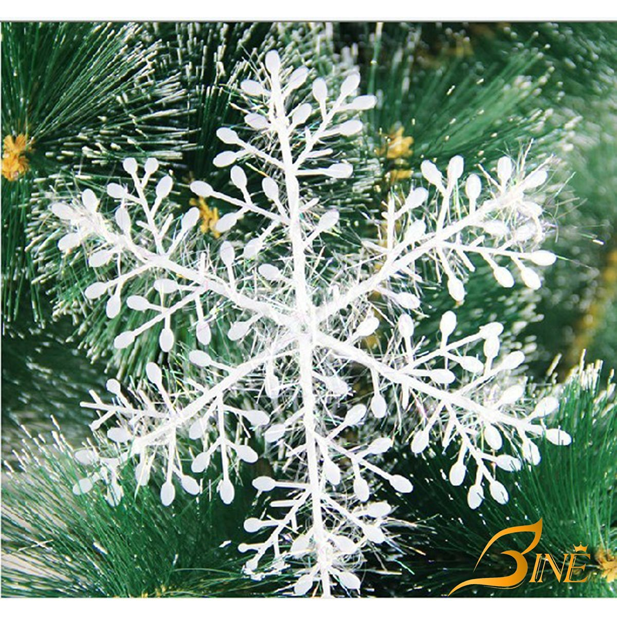Buy Bine Set Of 30 Assorted Snowflake Christmas Ornaments Winter