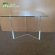 "2018 Wholesale Clear Acrylic ""V"" Shaped End Table Bases Set of 2"