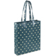 Cheap lightweight waterproof oilcloth dot floral tote bag eco tote bag book bag