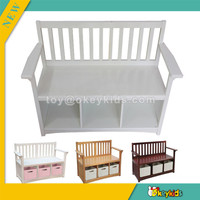 wholesale new wooden high quality storage box chair for kids,simple style children wooden storage box chair W08G079