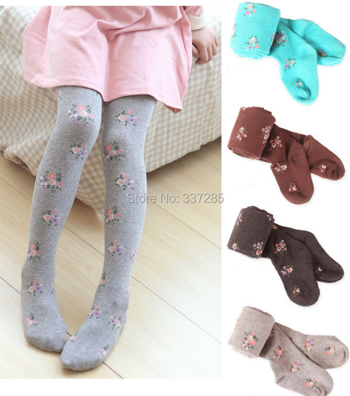 children thick warm tights for girls children cotton candy color dancing kids baby girls pantyhose knitted