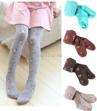 children  thick warm  tights for girls children cotton candy color dancing kids baby girls pantyhose knitted cotton cute tights