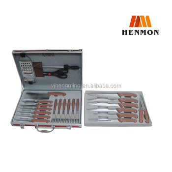Hm K014 25pcs Royal Kitchen Knife Set With Aluminium Insurance Box