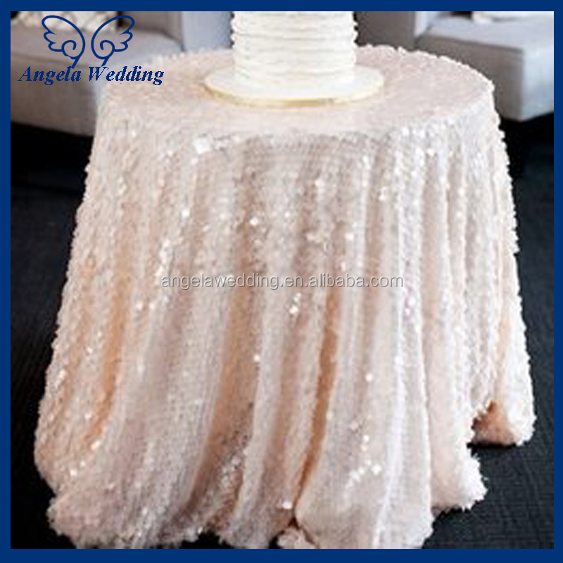 TL002A Cheap Hot Sale Elegant Polyester Ivory Wedding Embroidered Lace Table  Overlay