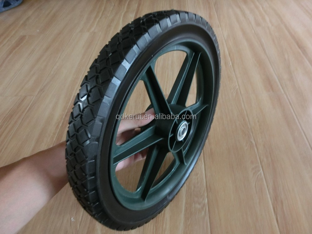 semi pneumatic wheel 14x1.75 lawn mower wheel 14""