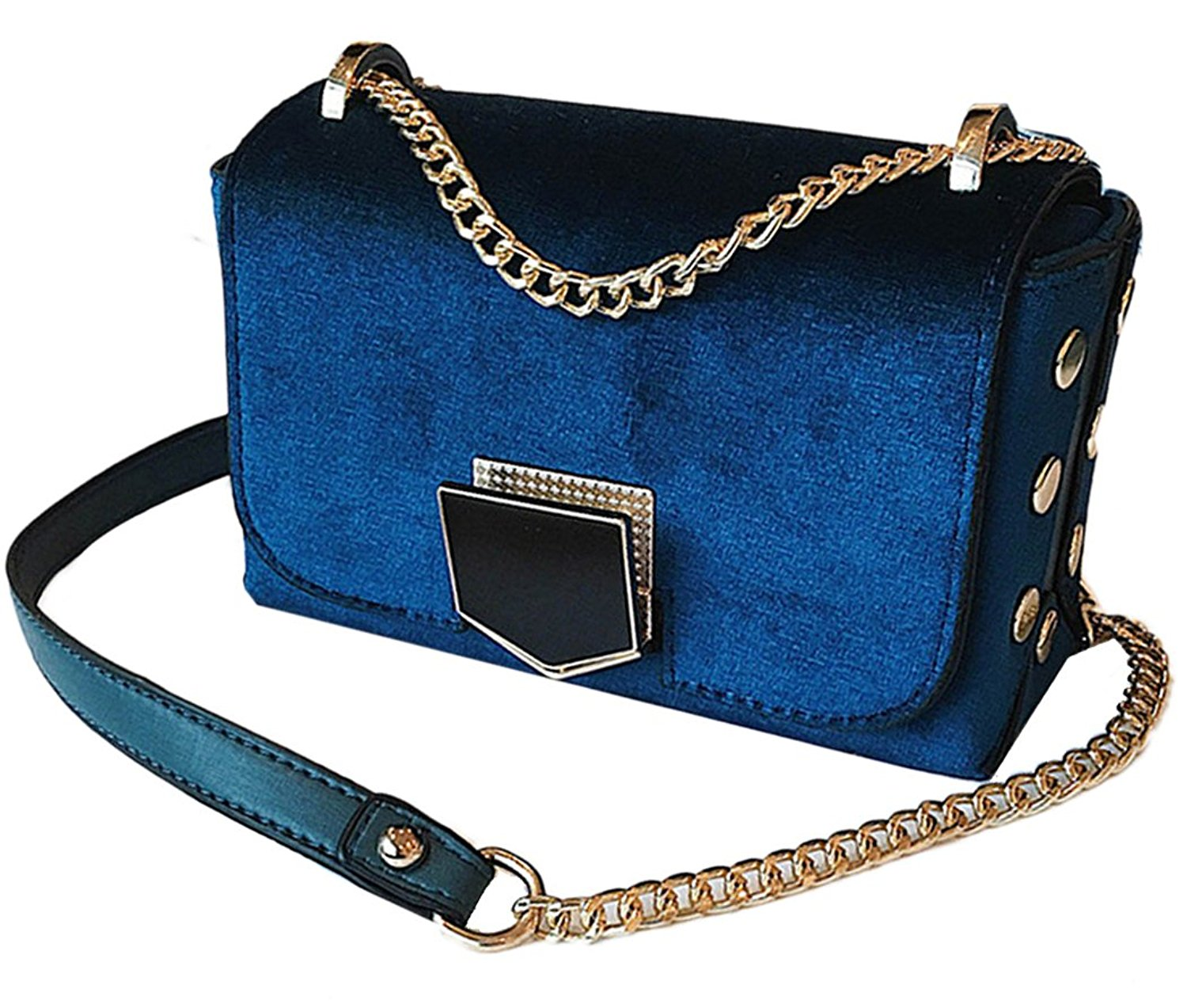 Misright Purse Chain Strap Replacement Metal Chain Handbags Strap for Clutch Wallet Satchel Tote Bags Shoulder Crossbody Bag Gold