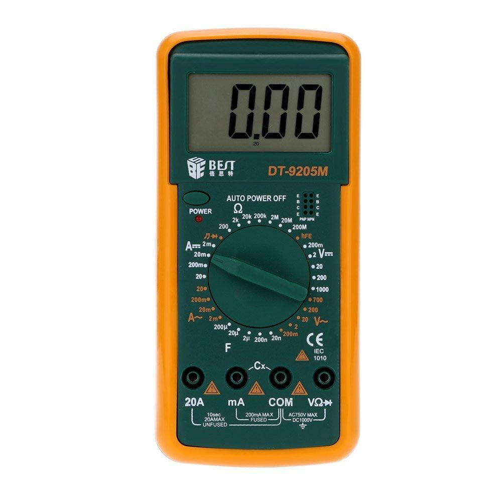 GXG-1987 BEST DT-9205M Multi-function Digital Meter Intelligent Digit Multi-meter Multimeter DC AC Voltage Current Meter DC AC Voltage Current Meter