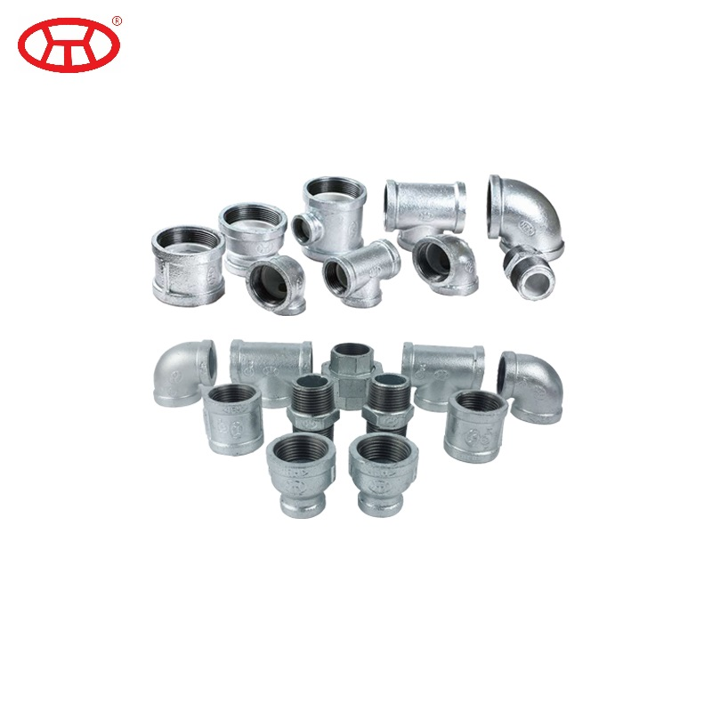 FM/UL Approved Threaded GI Lining Plastic Malleable Iron Pipe Fitting