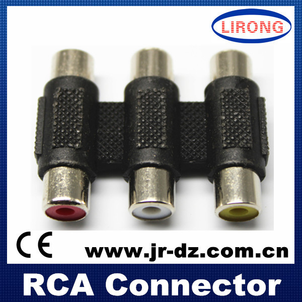 rca female connector stereo jack connector