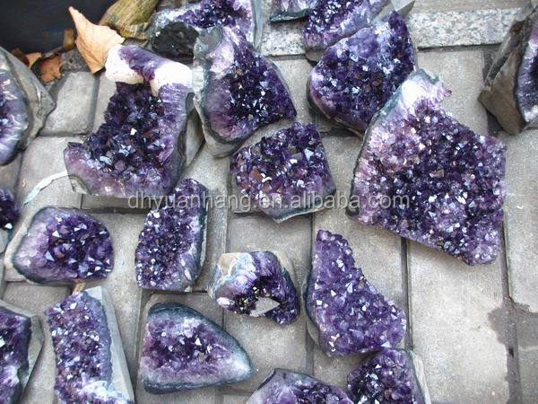 Beautiful natural amethyst geode clusters for decoration, cheap price quartz crystal geode clusters for sale