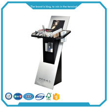 Acrylic professional makeup display stand and showcase for cosmetic advertising
