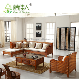 Hotselling Wicker Bamboo Cane Wood Furniture Sofa Set Price