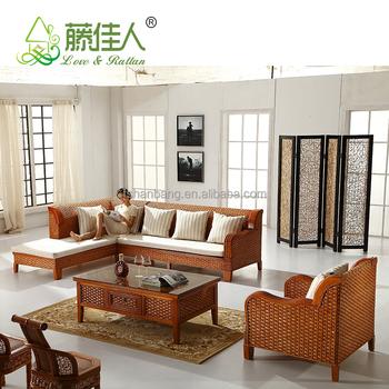 Hotselling Wicker Bamboo Cane Wood Furniture Sofa Set