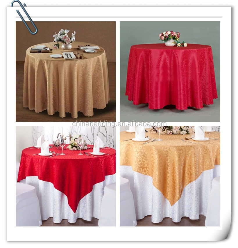Factory Price Hotel Wedding Restaurant Embroidery Pattern Table Cloth And  Beaded Table Cloth