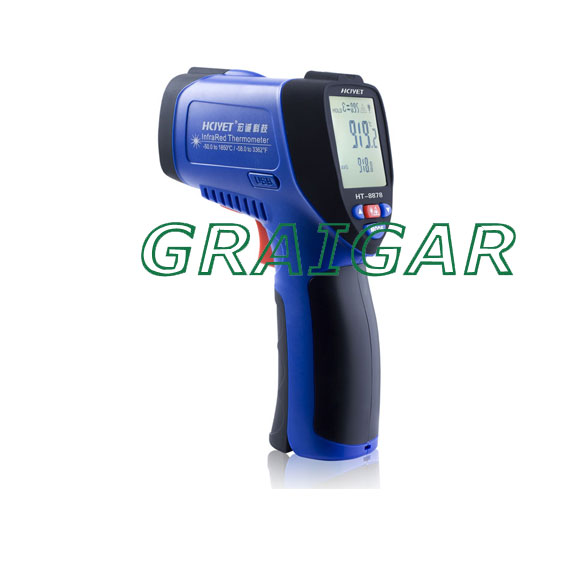 HT-8878(-50-1850 centigrade) hand-held infrared thermometer Adjustable emissivity professional grade temperature meter