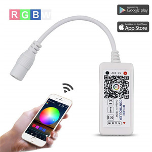 Bluetooth RGBW/RGB Controller for LED Light Strips, Android and iOS Free App Bluetooth LED Strip Light Controller