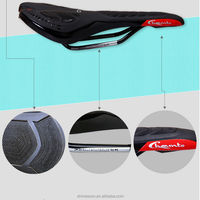 Unique design comfortable microfiber leather road bike bicycle saddle