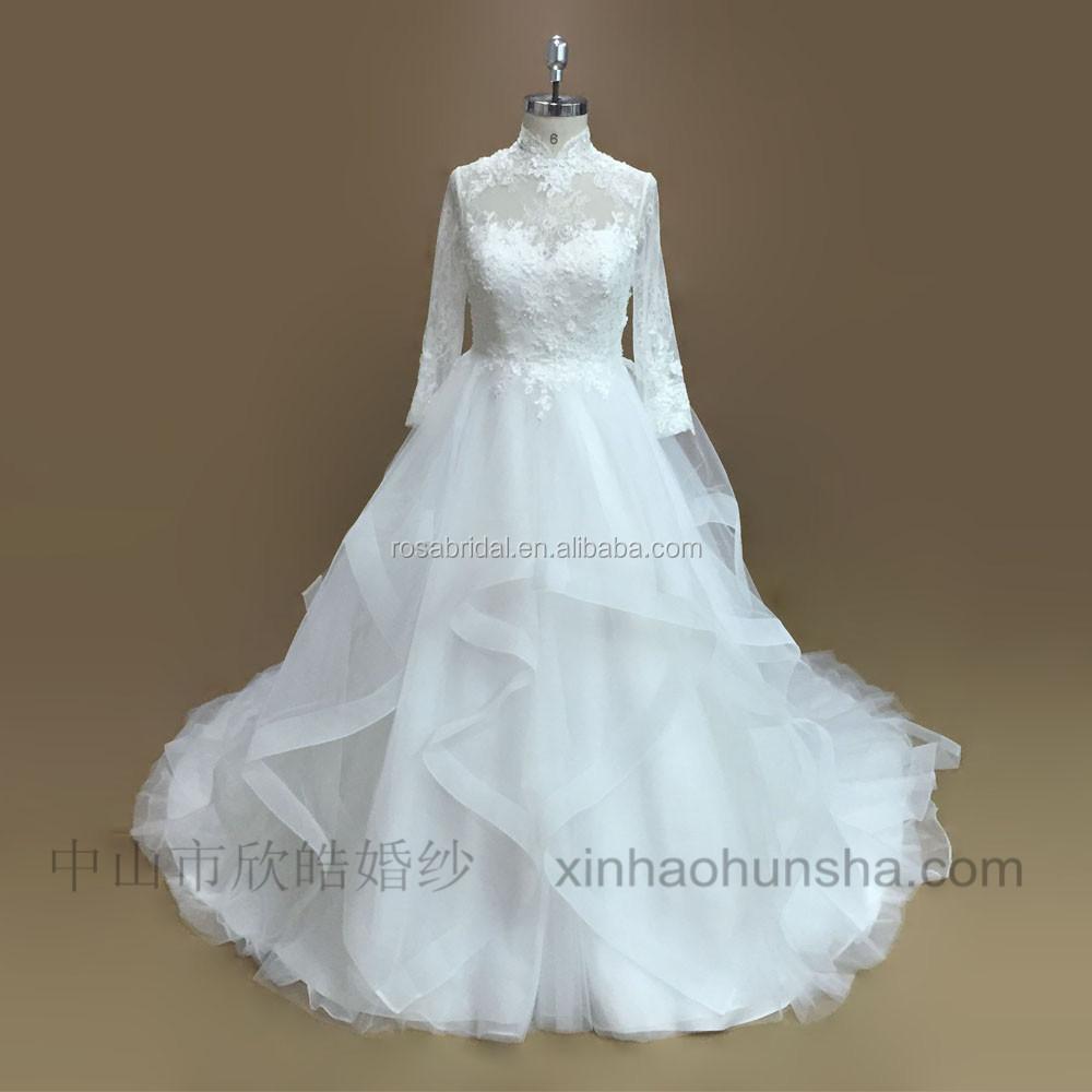 Long Sleeve Muslim Wedding Dress, Long Sleeve Muslim Wedding Dress ...
