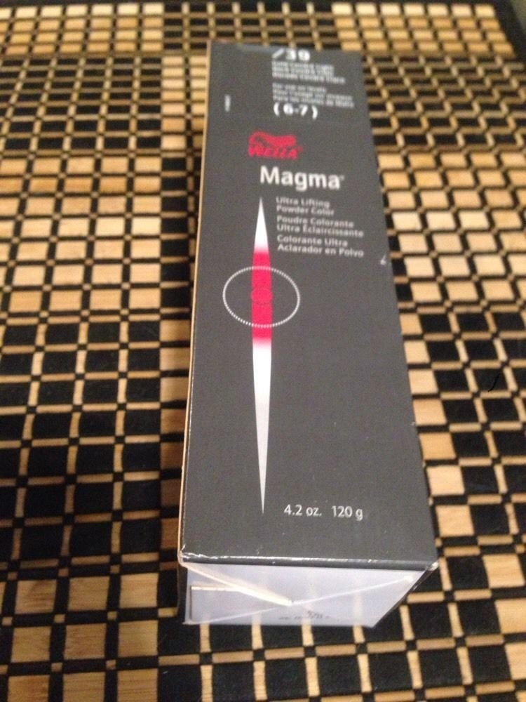 Wella Magma Ultra Profesional Lifting Powder Color 4.2 Oz 120g /39 for Use on Levels 6-7