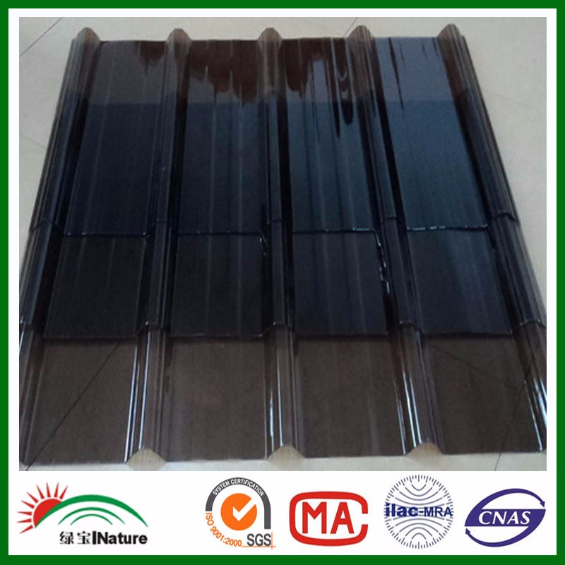 Online PC Solid corrugated sheet Price list. Polycarbonate corrugated roofing sheet.Price list of corrugated pc roof panels.