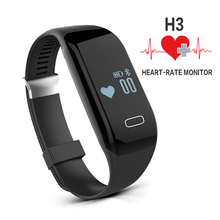 H3 Smart Band Heart Rate Monitor Bluetooth Wristband Fitness Tracker Health Pedometer Bracelet For iPhone IOS Android PK TW64