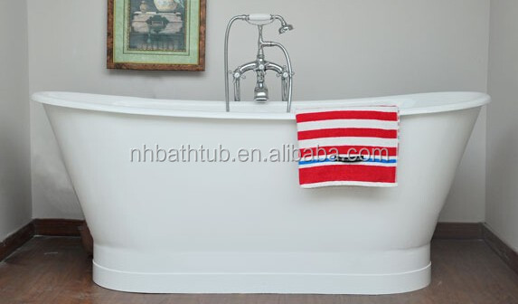 Cast Iron Boat Bath With Metal Skirt