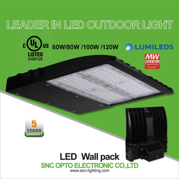 Popular In Usa Market Ip65 80w Led Wall Pack Solar Led