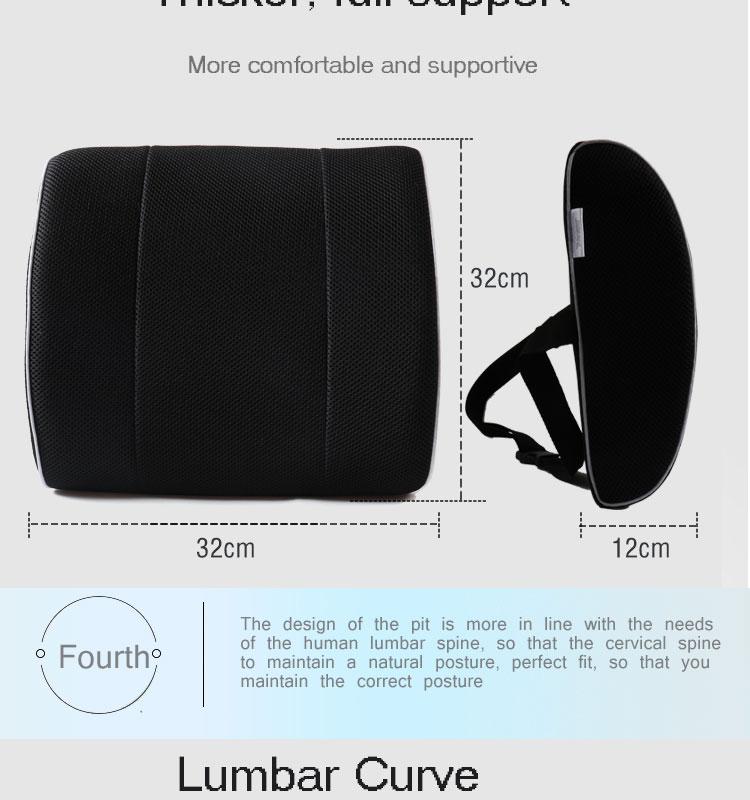 Memory Foam Wedge Pillows Lumbar Back Support Cushion For Office Chair 6 Jpg