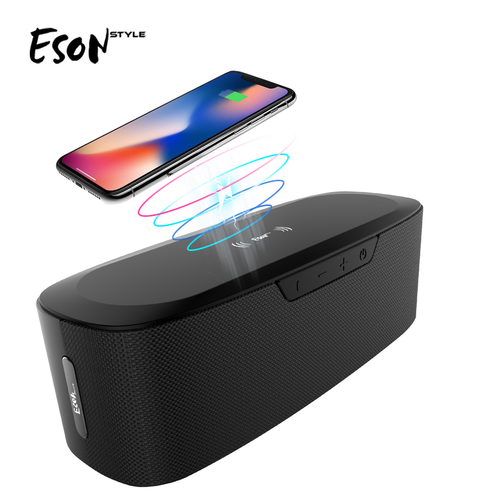 Eson Style Amazon top selling Power Bank Portable HiFi 20W 2600mAh <strong>Wireless</strong> charging <strong>Bluetooth</strong> <strong>Speaker</strong>
