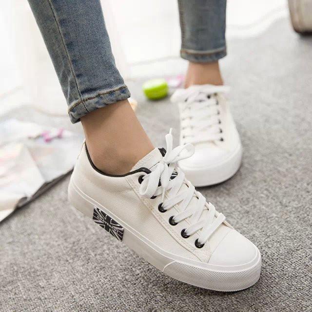 Coach White Canvas Shoes
