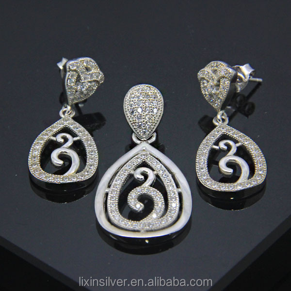 LIXIN pendant set, earring set, micro pave jewelry (LF07-471)
